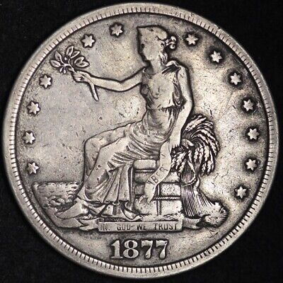 1877-S Trade Dollar CHOICE VF FREE SHIPPING! E369 KCNM