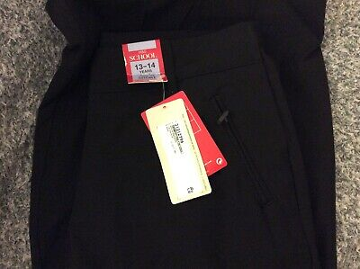 marks &spencers girls school trousers age 13-14 black short BNWTS
