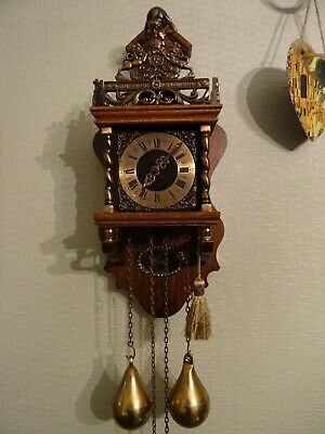 Dutch Zaandam 1900s Antique Clock in perfect working order. runs continuously