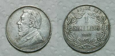 SOUTH AFRICA SILVER SHILLING 1897 - aEF