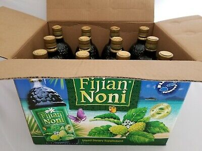 100% Organic - Fijian NONI Juice From Fiji Is(Pack of 12 Bottles) Cold Pressed.