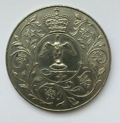 1977 CROWN COIN-TO COMMEMORATE THE QUEENS SILVER JUBILEE-Very Good Condition.
