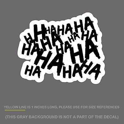 """HAHAsqVCwht4 Haha Sticker Decal Joker Serious Evil Body Window Car White 4/"""""""