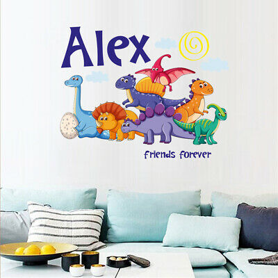 Dinosaurs wall sticker Personalised any name boys STARS AFC4 DECAL DECOR