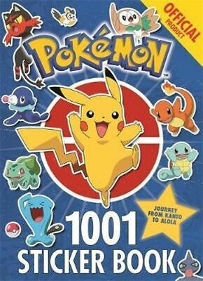 NEW The Official Pokemon 1001 Sticker Book By Pokemon Paperback Free Shipping