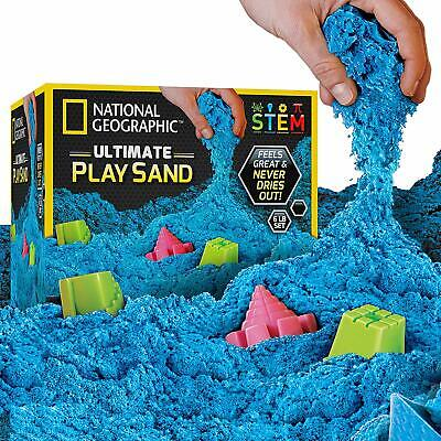 National Geographic Play Sand 6 LBS Castle Molds Kinetic Sensory Fun Kids Craft
