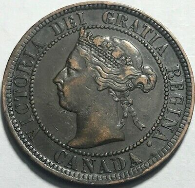 CANADA - Queen Victoria - One Cent - 1897 - Very Fine - See Images!