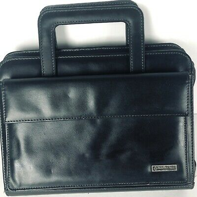 Franklin Covey Day One Planner Binder Organizer Black Retractable Handles
