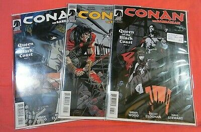 CONAN the BARBARIAN #1, 2, 3 - Queen of the Black Coast (2012 DH) Variant cvr's