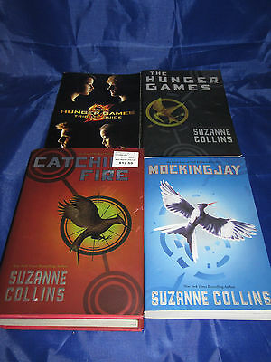 Suzanne Collins Complete Hunger Games Trilogy Tribute Guide Mixed 4 Book Lot
