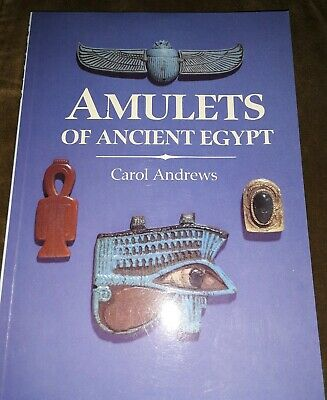 Amulets of Ancient Egypt- Signed by Carol Andrews- Out of Print-Scarab Osiris