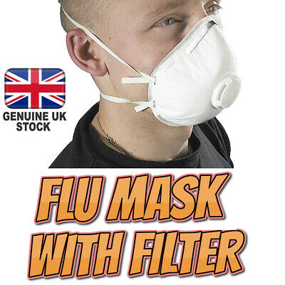 Flu Virus Medical Face Mask with Filter Valve Adjustable Strip Surgical Bacteria