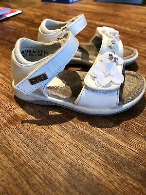 Girls Miss Sixty Sandals Size 4.5 Clarks Summer White