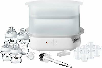 NEW Tommee Tippee SuperSteam Advance Electric Steriliser Set Bottles Brush White