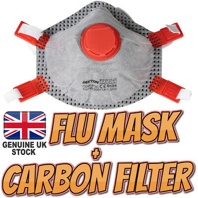 Flu Virus Medical Face Mask with Carbon Filter Adjustable Surgical Bacteria Dust