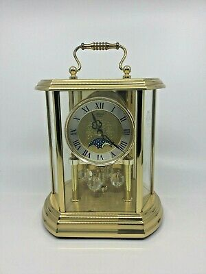 Vintage Franz Hermle Moon Phase Mantel Clock - West Germany