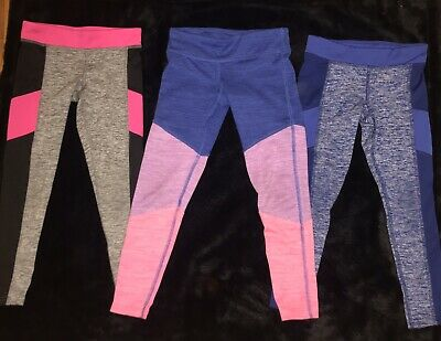 Champion Girl's Activewear Leggings Size XS (4/5) Gray Black Pink Blue Preowned