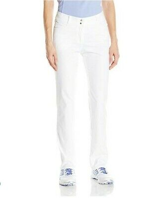 adidas Golf Women's Essential Pants New Size 14 White BC4088 NWT