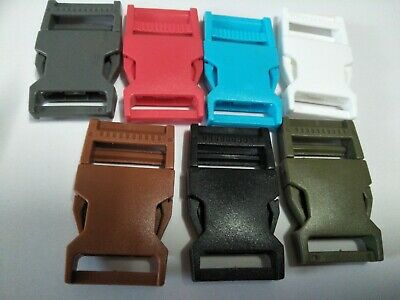 Backpack  Buckle 25mm Plastic Side Release  Several Color Choices ,