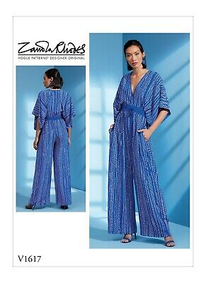 Vogue Sewing Pattern 1617 Misses Sz 16-22 Loose-Fitting Kimono Sleeve Jumpsuit