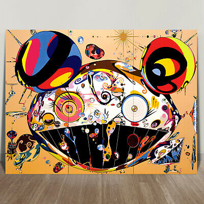 "TAKASHI MURAKAMI- TAN CANVAS PRINT 10x8"" JAPANESE POP ART"