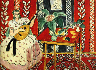 "HENRI MATISSE ~  The Lute 1943 ~ A2 CANVAS PRINT 16""X 24"""