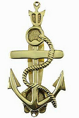 Anchor's Away Door Knocker Solid Brass with Brass Finish-Beach-Boathouse-Home