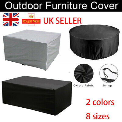 UK Extra Large Garden Rattan Outdoor Furniture Cover Patio Table Protection