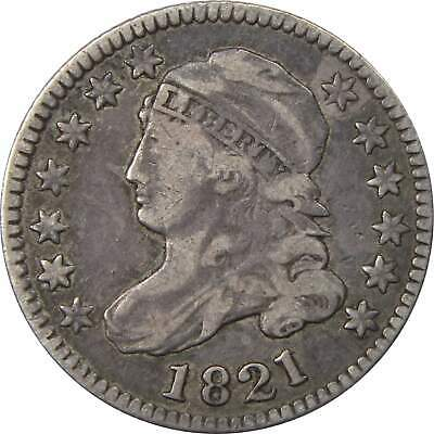 1821 Large Date 10c Capped Bust Silver Dime US Coin VF Very Fine