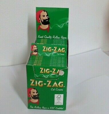 1000 Zig Zag Green Rizla/Rolling Papers 20 Packs X 50 Papers Free P&P
