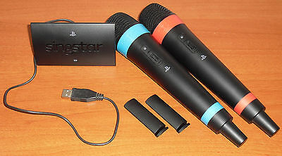 Micrófonos Inalámbricos SingStar + receptor Wireless, PlayStation 2 3 4, PS2/3/4