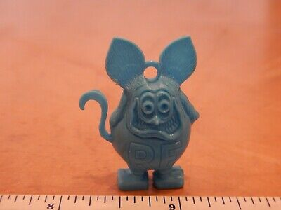 Lot Of 2 Vintage Original Small Ed Roth Rat Fink Ring Gumball Charm Blue Yellow