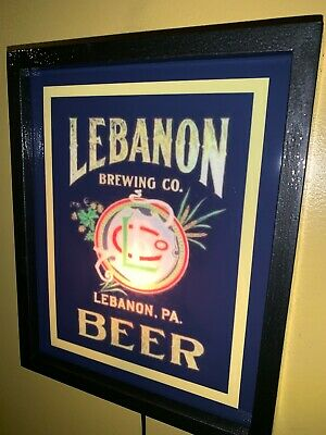 Lebanon Pennsylvania Tavern Beer Bar Man Cave Lighted Advertising Sign