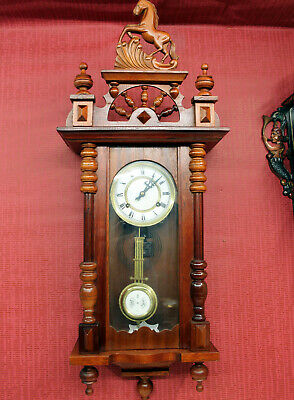 Old Wall Clock Chime Clock Regulator Clock 31Day