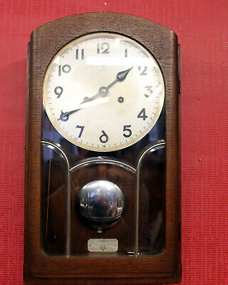 Antique Wall Clock Chime Clock Regulator Art Déco *JUNGHANS*