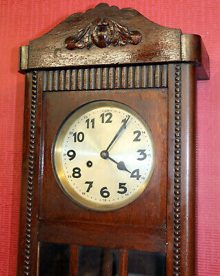 Antique Wall Clock Chime Clock Regulator 1920th century