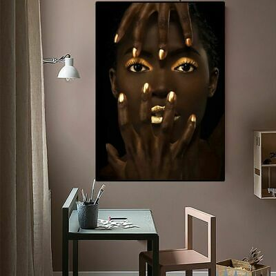 African Art Woman Portrait Oil Painting On Canvas Posters And Prints Wall Art