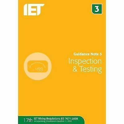 Guidance Note 3: Inspection & Testing by Iet, The Institution of Engine (ID:821)