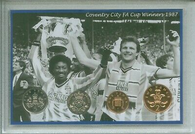 Coventry City (Sky Blues) Vintage FA Cup Final Winners Retro Coin Gift Set 1987