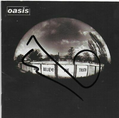 OASIS - personally signed BELIEVE - CD cover - NOEL GALLAGHER