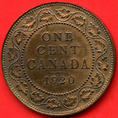 1920 Canada Large 1 Cent Coin
