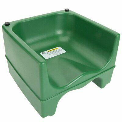 Lancaster Table and Seating Booster Seat Green Dual Height Durable Plastic New