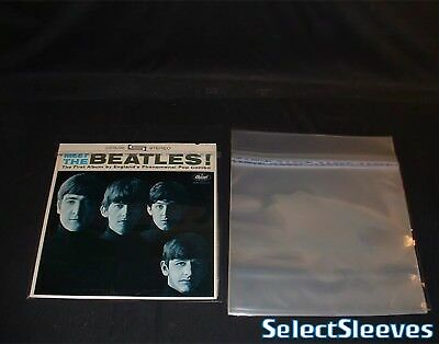 """12"""" LP Outer Sleeves RESEALABLE Japan Made 40Micron 50 Pieces SelectSleeves JPN"""