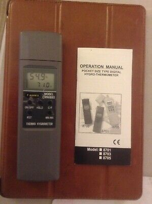 Mannix CMM880 Pocket Size Digital Hygro Therometer Thermo Hygrometer with Manual