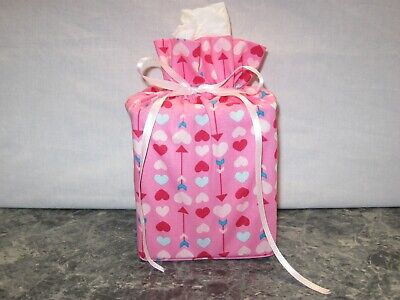 College Sports Holiday Floral Fabric Handmade Square Tissue Box Cover Cotton