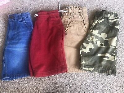 Bundle Of 4 X Pairs Boys NEXT Shorts All Age 7 Years VGC