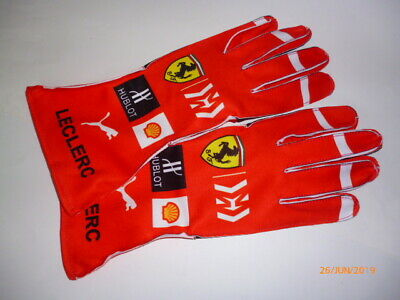 Charles Leclerc Ferrari gloves !!  F1  fan / kart  design !!