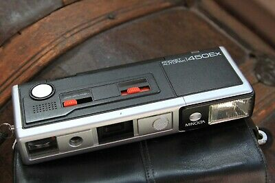 "Minolta "" POCKET AUTOPAK 450Ex "" 110 Cartridge Film Camera."