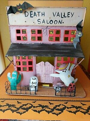 Sale Vintage Halloween Wild West Death Valley Saloon Haunted House Candle Ghost