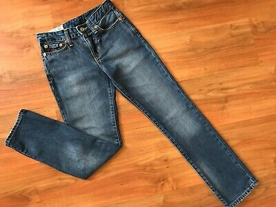 Boys AUTHENTIC Blue RALPH LAUREN SKINNY JEANS (age9-10) *GREAT COND*